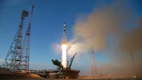 러시아 소유스 유인우주선 발사 모습 [연합뉴스]