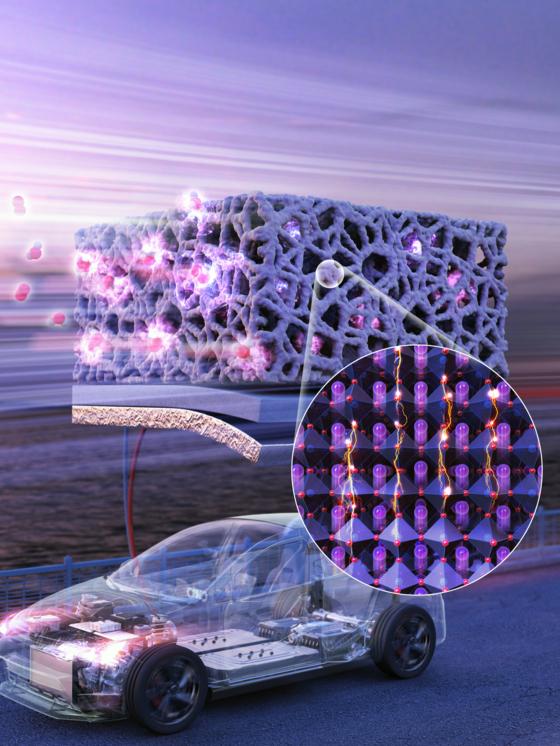 '어드밴스드 에너지 머터리얼스' 표지. 공동연구팀이 개발한 세라믹 소재에 대해 소개하고 있다. [UNIST 제공]