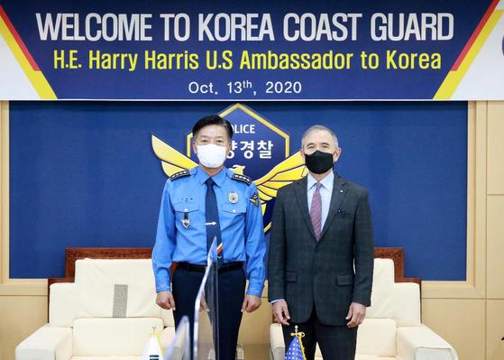 해리 해리스 주한 미국 대사가 지난 13일 해양경찰청을 방문해 한ㆍ미 해양 안전 협력에 대해 논의했다. [해리 해리스 대사 트위터 캡처]