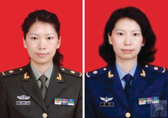 미 법무부가 공개한 중국 연구원 탕좐의 군복을 입고 있는 사진. [연합뉴스]
