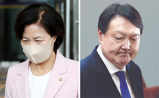 추미애(左), 윤석열(右)