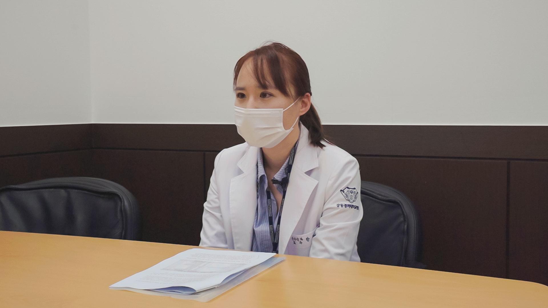 한관희 강동경희대병원 산부인과 교수는 ″HPV 예방 접종을 적극적으로 알리는 교육이 필요하다″고 강조했다. 이시은 인턴