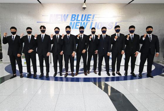삼성 라이온즈 2021년 신인 선수들. [사진 삼성 라이온즈]