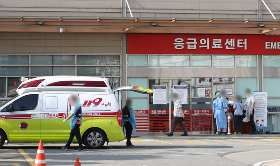 서울의 한 대학병원 응급의료센터. 연합뉴스