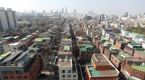 19일 서울 송파구 빌라와 다세대 주택 밀집 지역. 연합뉴스