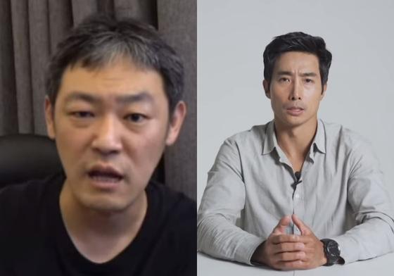 김용호연예부장과 이근 대위 [사진 각 유튜브 캡처]