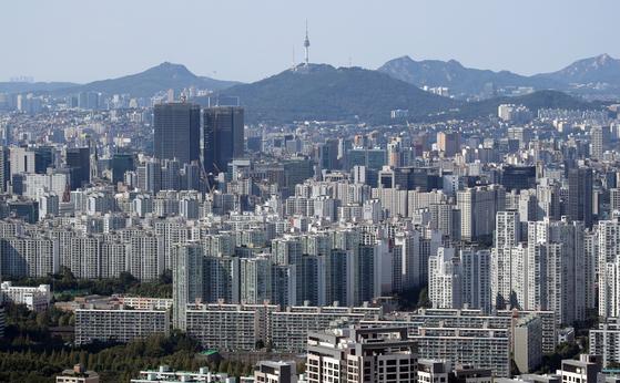 서울 강남구 개포동 일대 아파트단지 전경. 연합뉴스