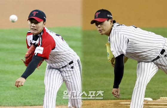 LG 김윤식과 남호. IS포토