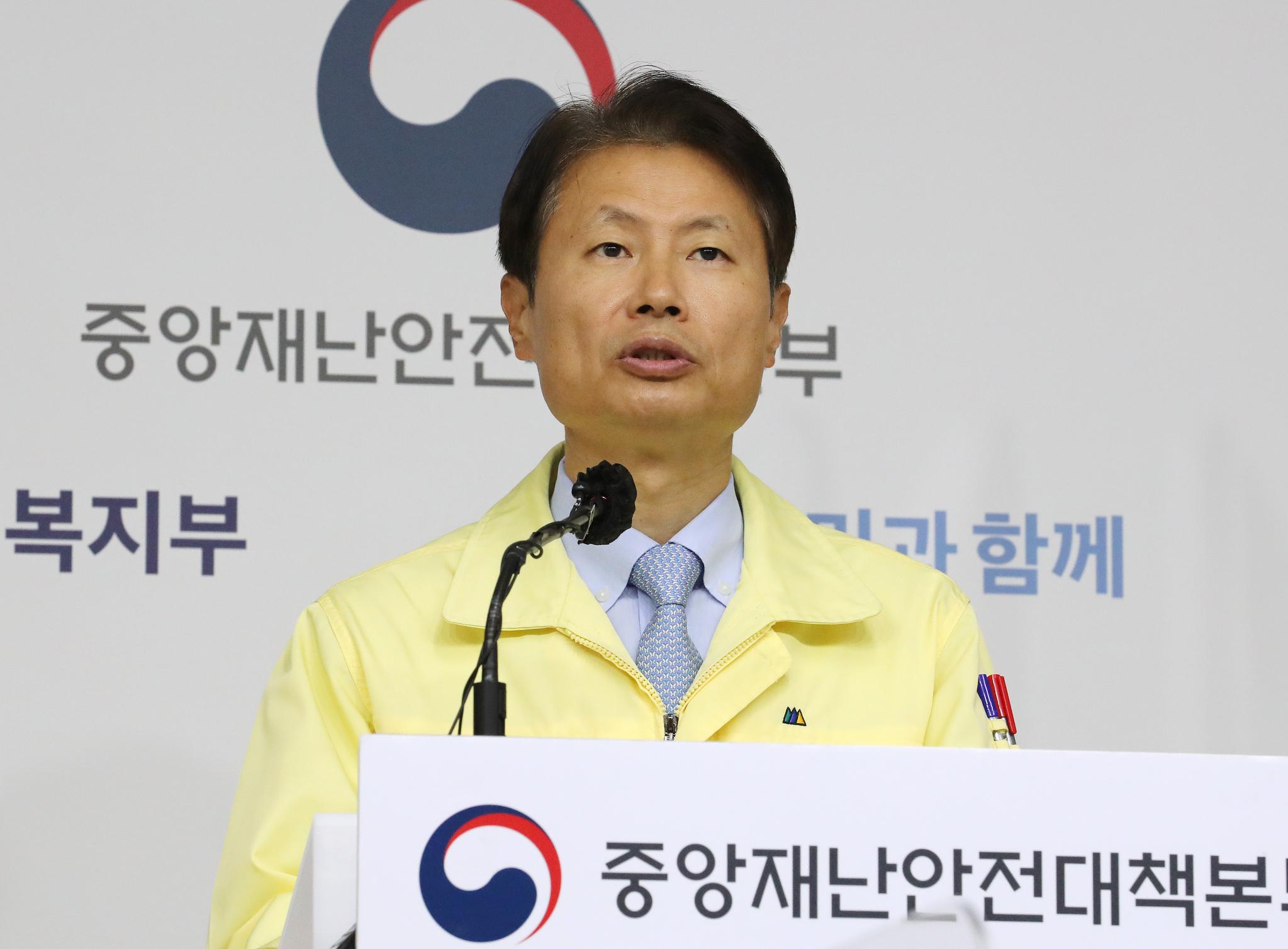 김강립 중앙재난안전대책본부 총괄대변인(보건복지부 1차관). 연합뉴스