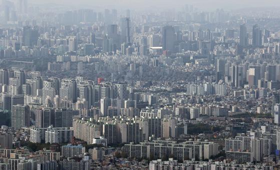 서울 송파, 강남 일대 아파트 단지 모습. [연합뉴스[