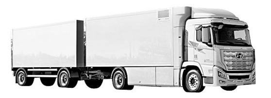현대차가 스위스에 수출한 엑시언트 수소전기트럭. [사진 현대차]