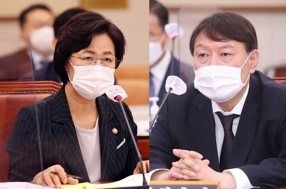 추미애 법무부 장관과 윤석열 검찰총장[뉴시스·연합뉴스]