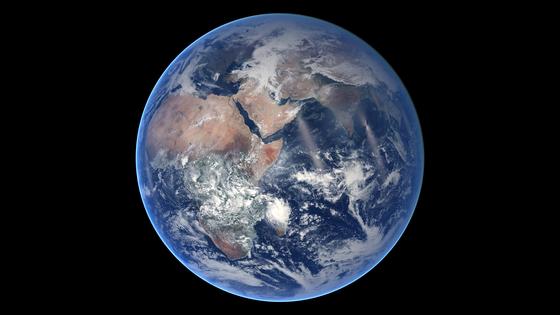 우주에서 바라본 지구의 모습. 미 항공우주국(NASA) 인공위성이 촬영했다. AFP=연합뉴스