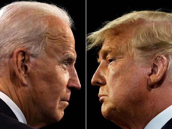 조 바이든 민주당 대선 후보(왼쪽)와 도널드 트럼프 미국 대통령. [AFP=연합뉴스]