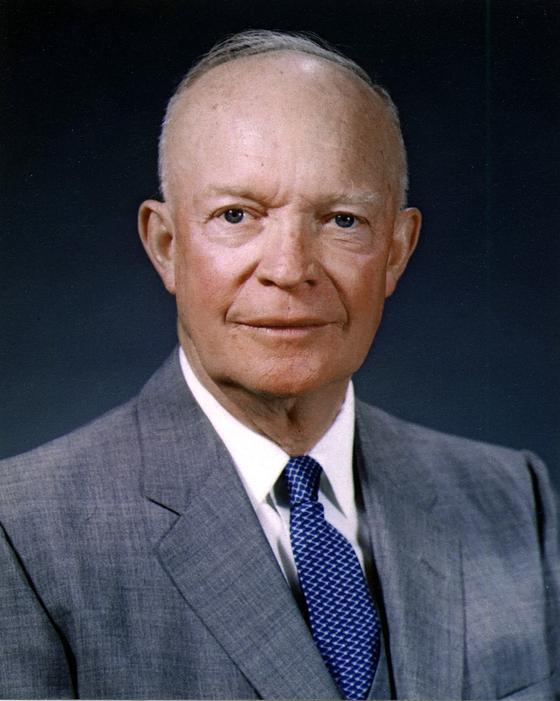 제2차 세계대전 당시 연합군 총사령관을 맡았던 드와이트 아이젠하워 미국 대통령. 군에서는 육군 원수까지 진급했다. 사진=백악관