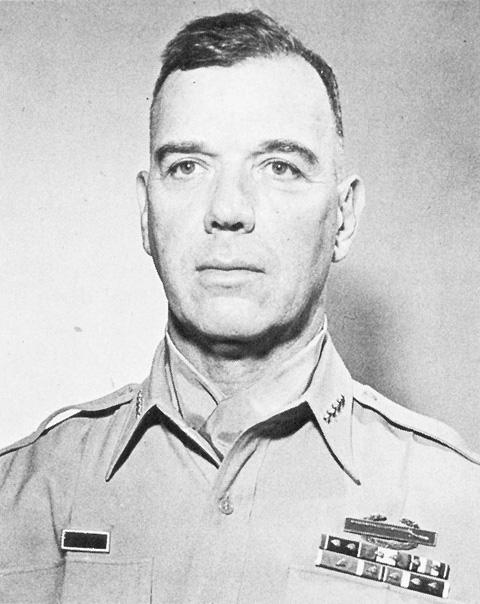 1953년 미 8군 사령관 시절의 제임스 밴 플리트 장군. 사진=미국 전쟁부