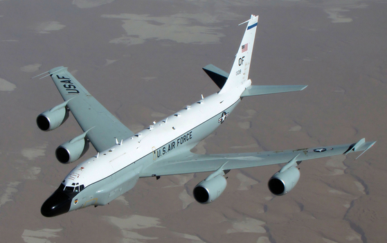 미국 공군 정찰기 리벳 조인트(RC-135W). 미 공군 제공.