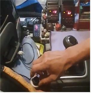 탑차 안 냉장·냉동 온도 조절기 불법 설치 사진. 제공 식품의약품안전처
