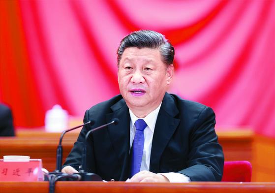 시진핑 중국 국가 주석이 새 경제 청사진을 제시했다. 키워드는 '쌍순환'이다. 신화=연합뉴스