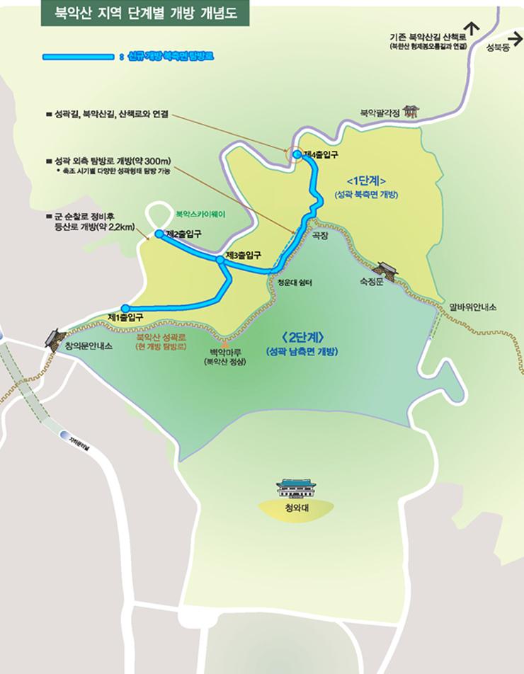 북악산 지역 단계별 개방 개념도. 자료 청와대