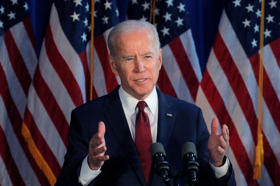 미국 대선 민주당 대선후보인 조 바이든 전 부통령. [로이터=연합뉴스]