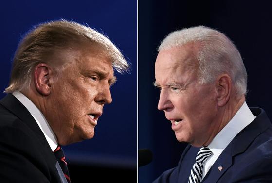 최근 미국 대선 여론조사 결과 경합주에서 박빙의 승부를 펼치는 것으로 나타나면서 선거인단 투표에서 당선자를 정하지 못하는 시나리오에 대한 이야기도 나오고 있다.[AFP=연합뉴스]