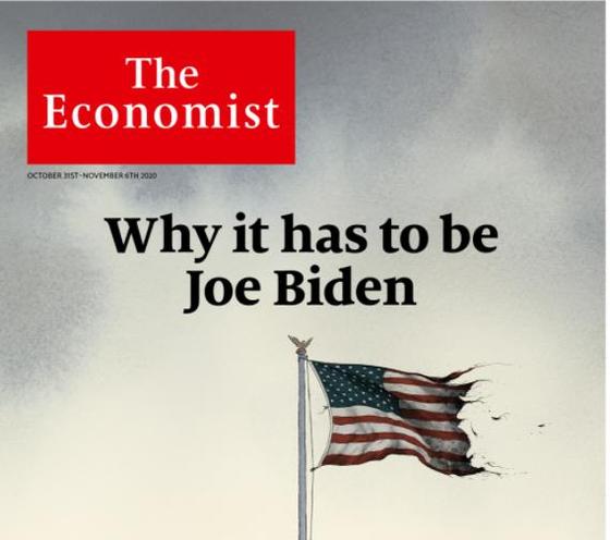 이코노미스트가 미국 대선에서 바이든 지지를 공개 선언했다. [연합뉴스]