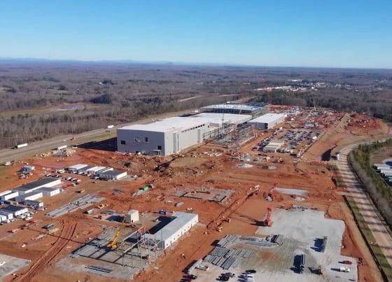 미국 조지아주에 건설 중인 SK이노베이션의 배터리 공장. [SK이노베이션 제공]
