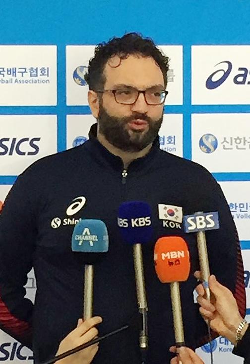스테파노 라바리니 여자배구 대표팀 감독. [연합뉴스]