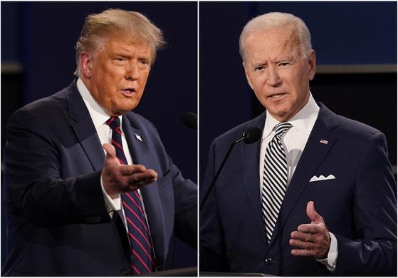 도널드 트럼프 대통령과 조 바이든 민주당 대선 후보 [AP=연합뉴스]