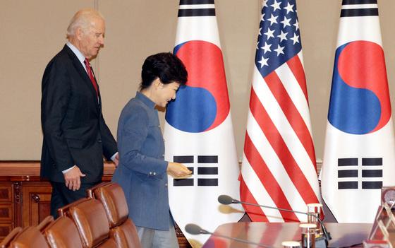 2013년 부통령 자격으로 방한해 박근혜 당시 대통령을 예방한 조 바이든. [청와대사진기자단]
