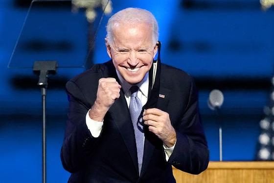 7일 당선이 확정된 조 바이든 미국 민주당 후보. [AP=연합뉴스]