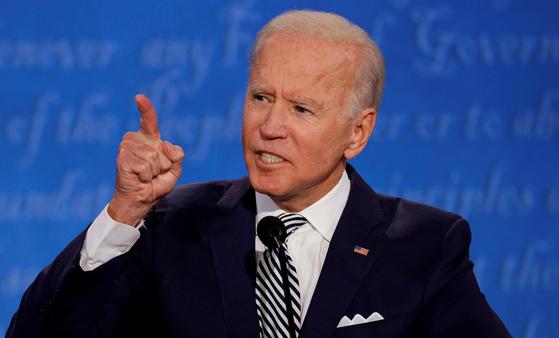 제 46대 미국 대통령으로 당선된 조 바이든 민주당 대통령 후보. [로이터=연합뉴스]