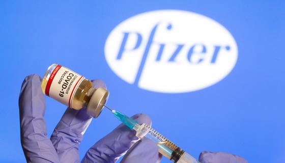 미국 제약사 화이자가 개발 중인 코로나19 백신 [로이터=연합뉴스]