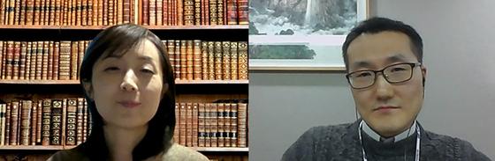 아산정책연구원 박지영 선임연구위원(왼쪽), 대외경제정책연구소 허재철 연구위원(오른쪽).