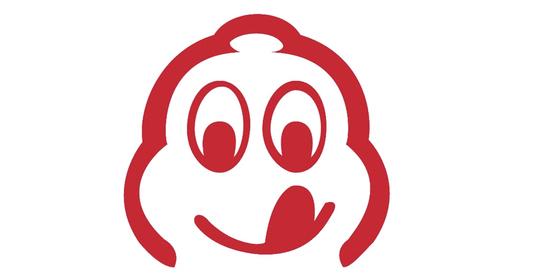 빕 구르망 식당은 미쉐린의 마스코트인 '비벤덤'이 입맛을 다시는 픽토그램으로 표시된다.