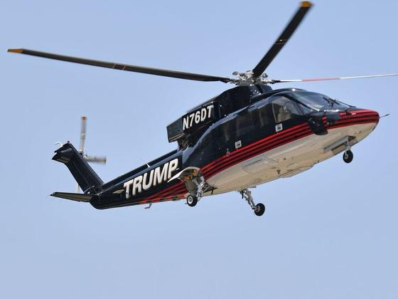 도널드 트럼프 미국 대통령이 매물로 내놓은 개인용 헬기 시코르스키 S-76B. [비즈니스인사이더 캡처]