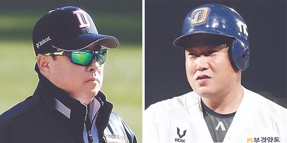 김태형 감독(左), 양의지(右)