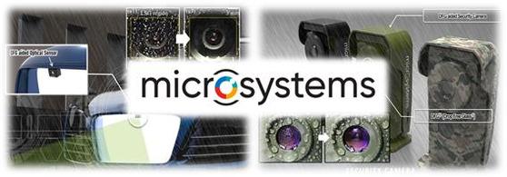 마이크로시스템이 개발한 전자식 자가세정유리 Drop Free Glass가 적용된 제품