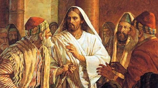 유대 율법을 중시하는 유대인들이 예수를 찾아와 안식일에 일을 한 사실에 대해 따지고 있다. [중앙포토]