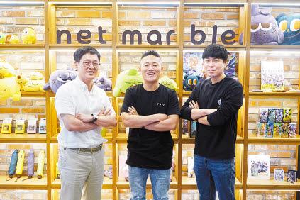넷마블 AI센터는 지능형 AI 기술을 연구하는 전담조직으로 2018년 설립됐다. 왼쪽부터 마젤란실 오인수 실장, AI센터 김동현 센터장, 콜럼버스실 석영민 실장. [사진 넷마블]