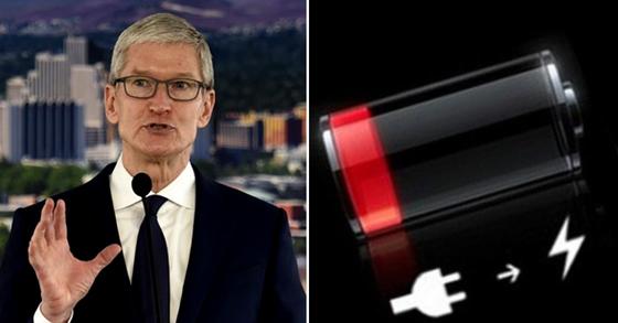 2019년 팀 쿡 애플 최고경영자가 구형 아이폰 배터리 문제를 언급했다. AP=연합뉴스