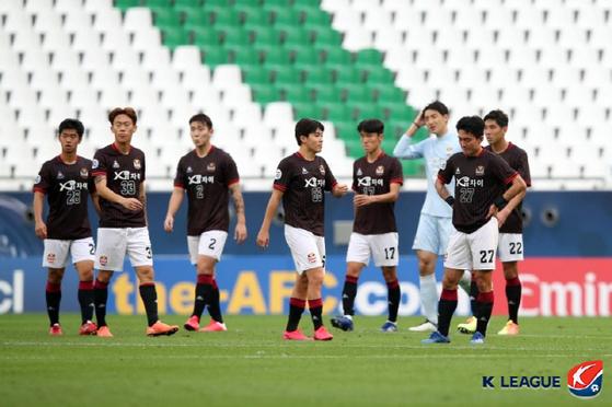 FC 서울이 ACL 조별 예선 2차전에서 베이징 궈안에 석패했다. 한국프로축구연맹 제공