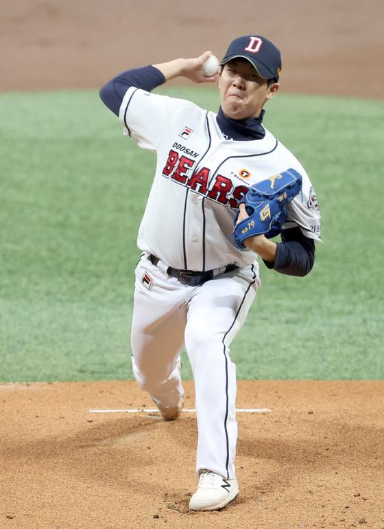 김민규가 KS 선발 데뷔전에서 호투했다. IS포토