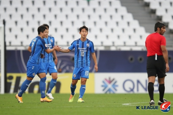 울산이 ACL F조 선두로 나섰다. 한국프로축구연맹 제공.