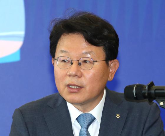 차기 은행연합회장 후보로 단독 선정된 김광수 NH농협금융지주 회장. 연합뉴스