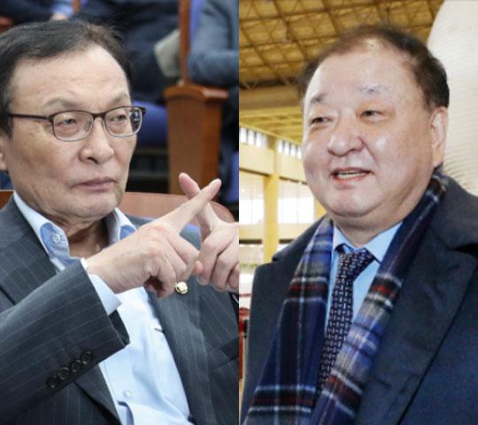 이해찬 전 더불어민주당 대표와 강창일 전 의원. 중앙일보·뉴스1