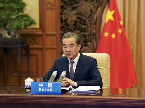 왕이 중국 국무위원 겸 외교부장. 사진 중국 외교부 홈페이지 캡처