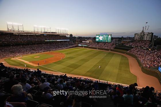 MLB 시카고 컵스의 홈구장 리글리 필드. Gettyimages
