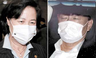 추미애 법무부장관(왼쪽)과 윤석열 검찰총장. 중앙포토